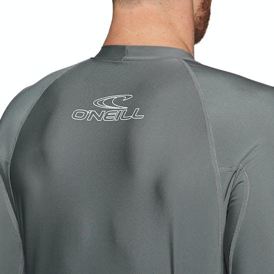 O Neill Basic Skins Long Sleeve Crew Rash Vest