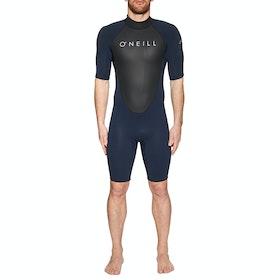 O'Neill Reactor II 2mm Back Zip Short Sleeve Shorty Wetsuit - Abyss