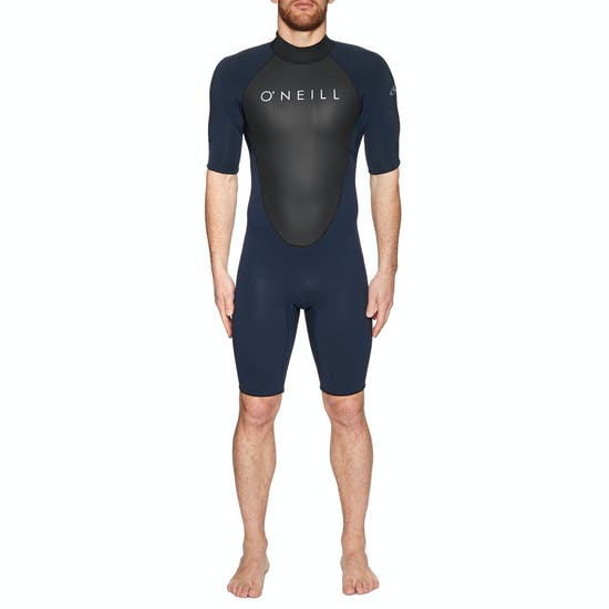 O Neill Reactor II 2mm Back Zip Short Sleeve Shorty Wetsuit