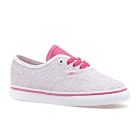 Vans Authentic Kids Toddler Shoes - Glitter Stars True White Carmine Rose