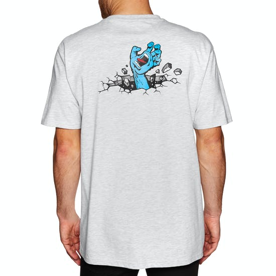 T-Shirt de Manga Curta Santa Cruz Hand Wall