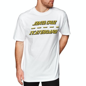 Santa Cruz Street Strip Short Sleeve T-Shirt - White