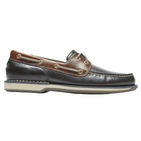 Rockport Perth , Slip-on sko - Navy Dark Tan Lea