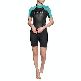 Animal Nova 3/2mm Back Zip Shorty Womens Wetsuit - Black