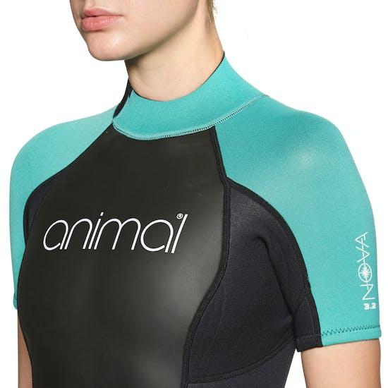 Animal Nova 3/2mm Back Zip Shorty Damen Neoprenanzug