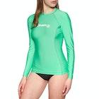 O'Neill Skins Basic Long Sleeve Crew Ladies Rash Vest
