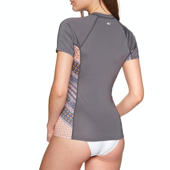 O'Neill Side Print Short Sleeve Rash Vest