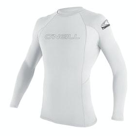 O'Neill Basic Skins Long Sleeve Crew Girls Rash Vest - White
