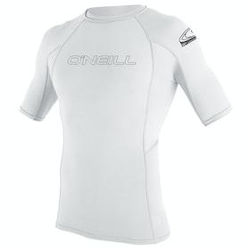 O'Neill Basic Skins Short Sleeve Crew Girls Rash Vest - White