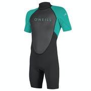O'Neill Youth Reactor II 2mm Back Zip Shorty Kids Wetsuit