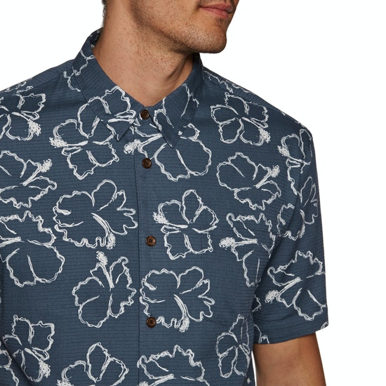 Quiksilver Waterman Seasick Hilo Short Sleeve Shirt