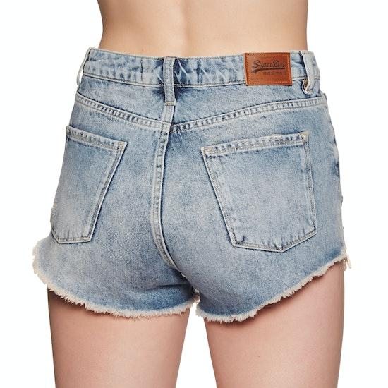 Superdry Eliza Cut Off Denim Dames Shorts