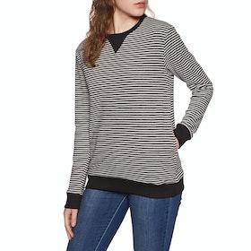 SWELL Dexta Stripe Crew Womens Sweater - Grey Marle Stripe