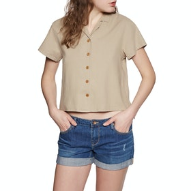 SWELL Sari Womens Short Sleeve Shirt - Earth