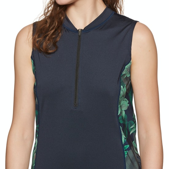 O'Neill Front Zip Cap Sleeve Sun Shirt Rash Vest