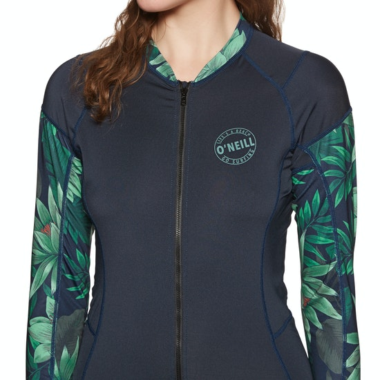 O Neill Skins Front-Zip Long-Sleeve Surf Suit Rash Vest