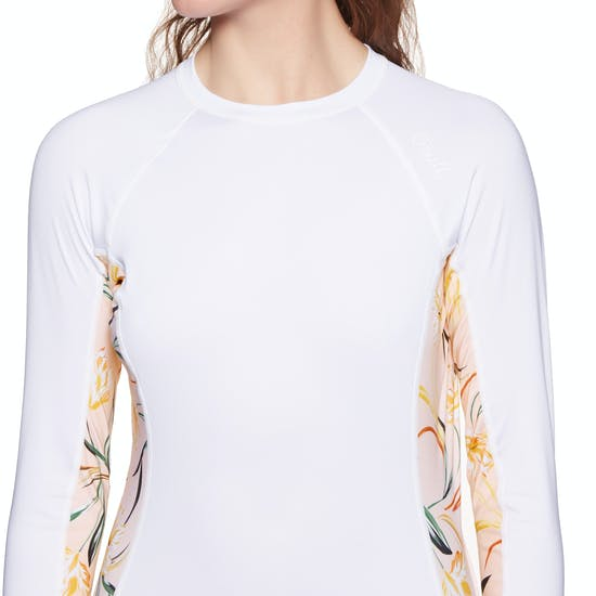 O Neill Side Print Long Sleeve Rash Vest