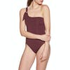 Seafolly Active One Shoulder Swimsuit - Plum