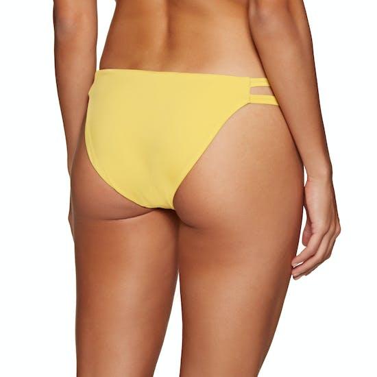 RVCA Solid Full Tab Side Bikini Bottoms