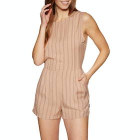 RVCA Tucked In Playsuit - Nude