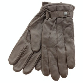 Barbour Burnished Leather Insulated Gloves - Dark Brown