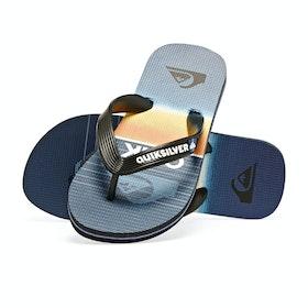 Quiksilver Molokai Highline Slab Kids Sandals - Black/blue/blue