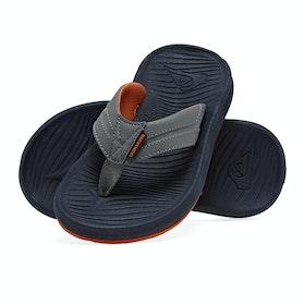 Quiksilver Oasis Kids Sandals - Grey Grey Orange