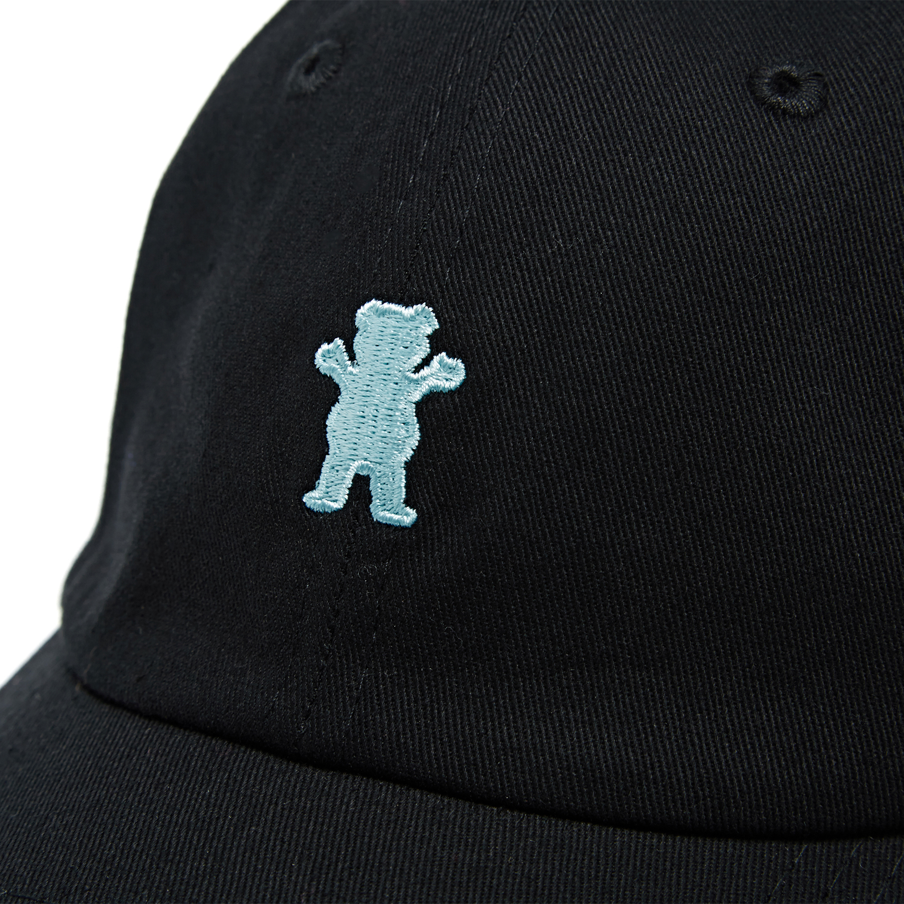 Grizzly Og Bear Strapback Cap One Size Black