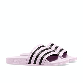 Adidas Originals Adilette Sliders - Clear Pink Clear Pink Core Black