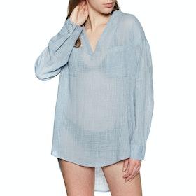 Rip Curl Koa Beach Cover up Womens Shirt - Blue