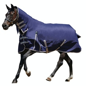 Weatherbeeta Comfitec Essential Combo Neck Lite Plus Turnout Rug - Navy Silver Red