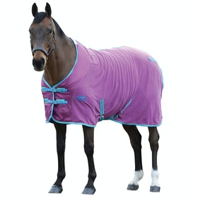 Weatherbeeta Fleece Cooler Standard Neck Cooler Rug - Purple/blue/yellow