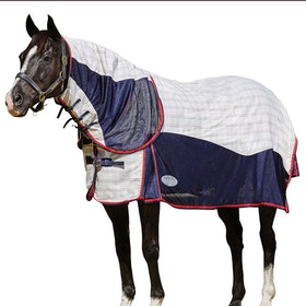 Weatherbeeta Breeze With Surcingle III Combo Neck Sheet - White Red Navy
