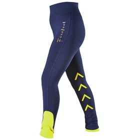 Firefoot Reflective Ripon Childrens Riding Breeches - Navy yellow