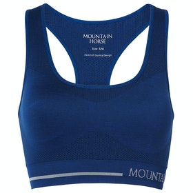 Mountain Horse Adore Tech Top Ladies Sports Bra - Blue Melange