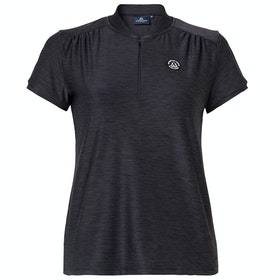 Mountain Horse Sky Tech Ladies Short Sleeve T-Shirt - Black Melange