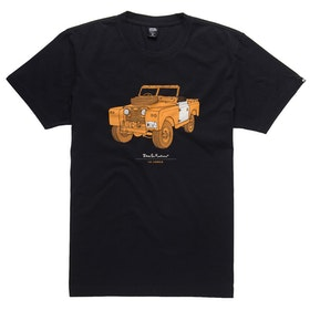T-Shirt a Manica Corta Deus Ex Machina The Landie - Black