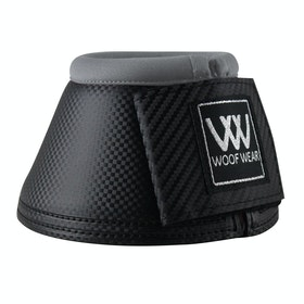 Woof Wear Pro Colour Fusion Over Reach Boots - Black Brushed Steel