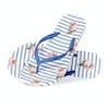 Joules Flip Flops Womens Sandals - Blue Floral Stripe