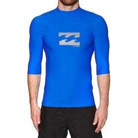 Billabong Advance Short Sleeve Rash Vest - Royal Blue