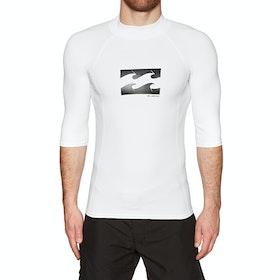 Billabong Advance Short Sleeve Rash Vest - White