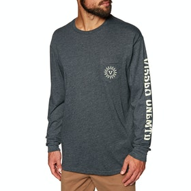 Vissla Helios Pocket Langarm-T-Shirt - Black Heather