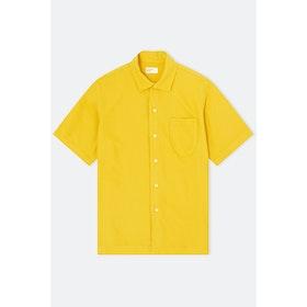 T-Shirt a Manica Corta Universal Works Open Collar - Sunshine