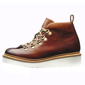 Grenson Bridget Ladies Boots - Tan Hand Painted