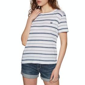 Billabong Beach Day Womens Short Sleeve T-Shirt - Blue Stripes