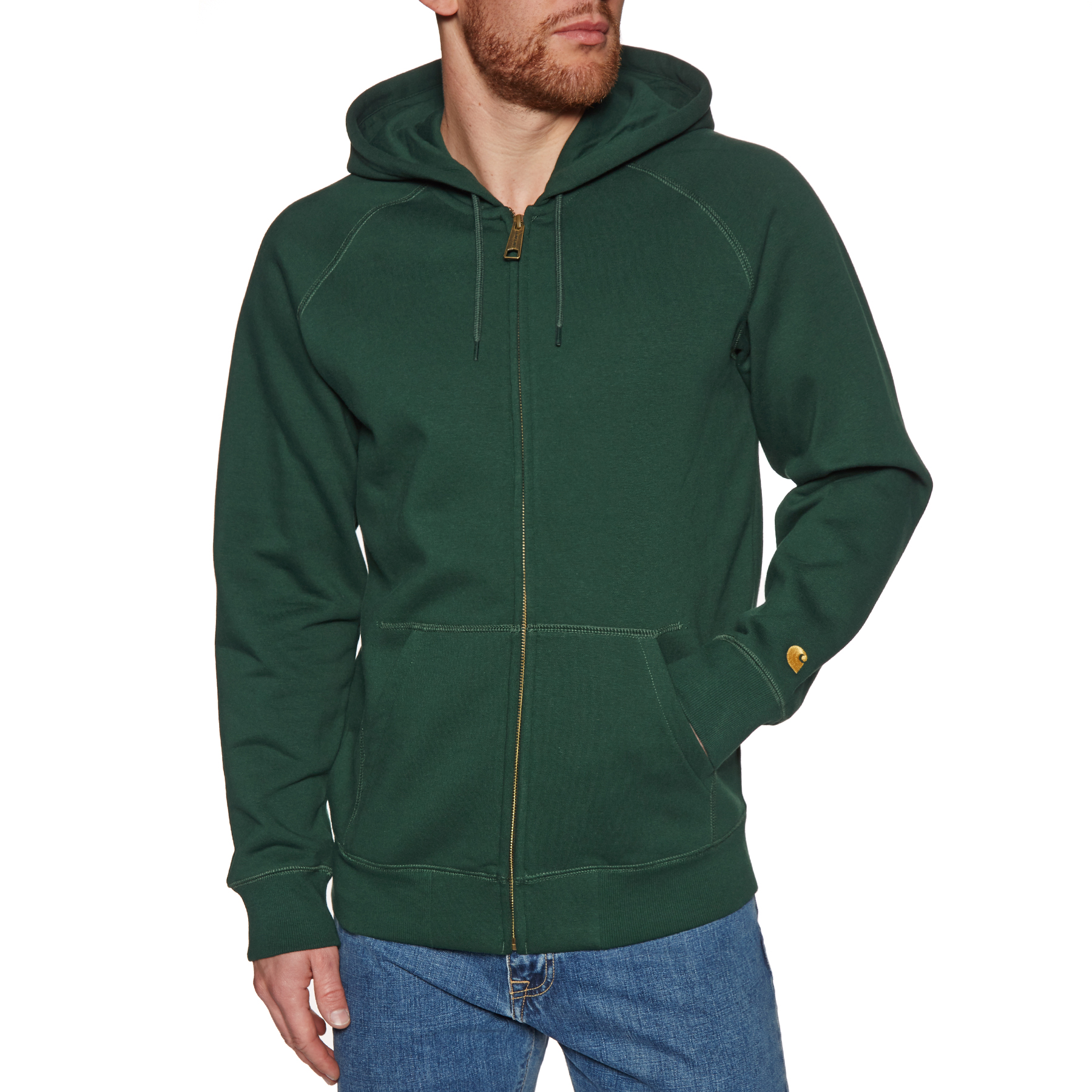 Sweat à Capuche avec Fermeture Éclair Carhartt Hooded Chase Free Delivery options on All Orders from Surfdome Switzerland