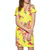 Joules Riviera Short Sleeve Jersey Print Dress - Lemon Floral