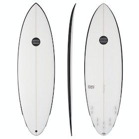 Maluku Dragonfly FCS II 5 Fin Surfboard - White Black Rail