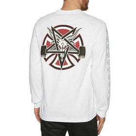 T-Shirt à Manche Longue Independent Thrasher Pentagram Cross - White