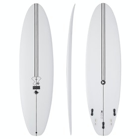 Surfboard Fourth Surfboards BP Mini Base Construction FCS II 5-Fin - White
